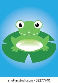 cute frog illustration