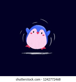 A cute happy pinguin wallpaper that you can use for wallpaper or backgorund image.
