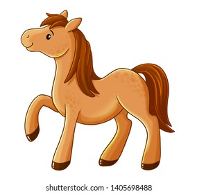 Cute horse drawing for kids.