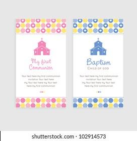Cute Little Chapel Baptism, Communion or Confirmation invitation