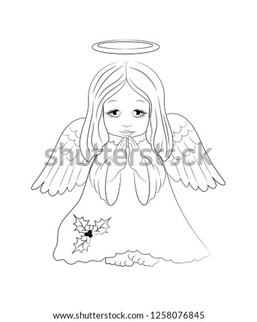 Royalty Free Stock Illustration Of Cute Little Christmas Angel