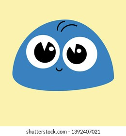 cute lovely emotional face expression of an emoji