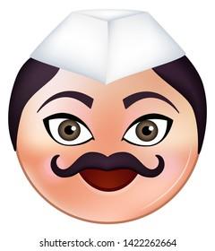 Cute Maharashtrian Man Emoji Marathi face