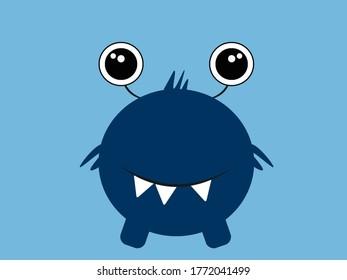 Cute monster Illustration Cartoon Background