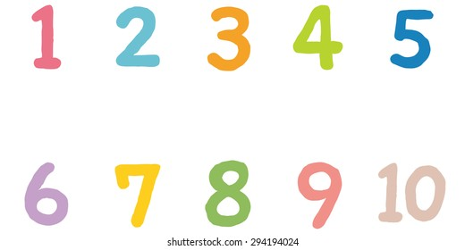 "Cute numbers ""1 to 10"""