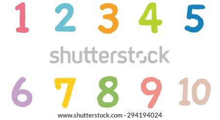 Cute Numbers 1 10 Stock Illustration 294194024 Shutterstock