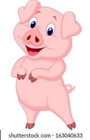 cartoon pig images stock photos vectors shutterstock