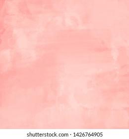 Cute Pink Baby Girl Pattern. Pink watercolor paint splatter princess background. Blush pink baby girl backdrop. Cute girly paint on canvas background.