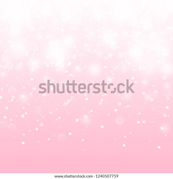 Cute Pink Baby Girl Pattern Shiny Stock Illustration 1240507759