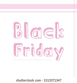 Cute pink Black Friday banner!