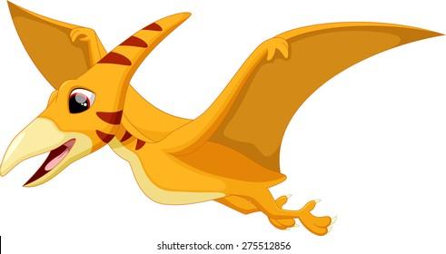 Cute pterodactyl cartoon