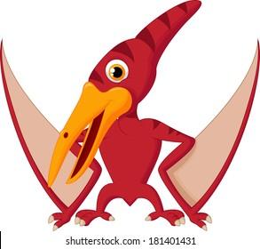 Cute pterosaurus cartoon