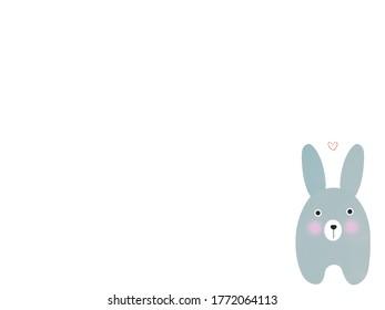 Cute Rabbit Cartoon Illustration Background