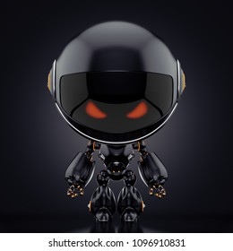 Cute robot toy, 3d rendering