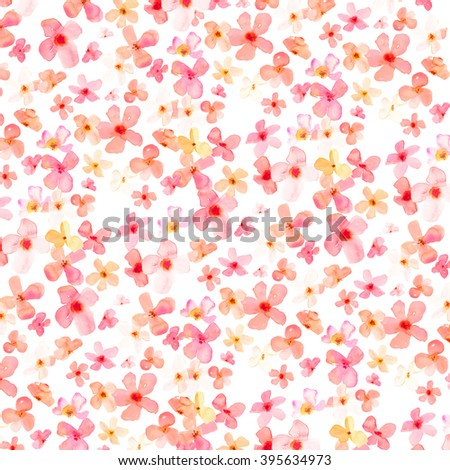 Cute Spring Flower Background Bright Pink Stock Illustration