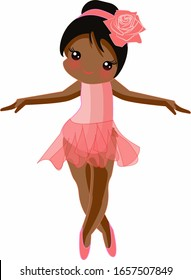 Cute, sweet and adorable pink afro ballerina  perfect for card invitations, calendars, wall art, clothes, baby clothes, birthdays, nursery, baby shower, children, party, clothes, printing.