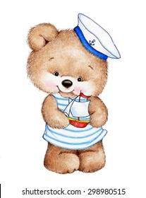 Cute Teddy bear sailor