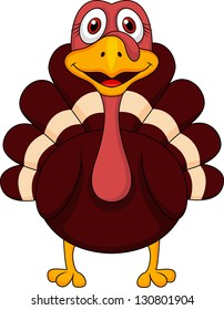 Cute turkey cartoon
