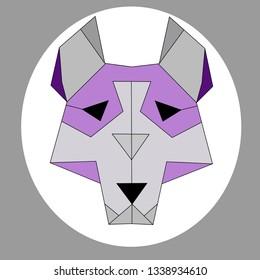 cute wolf or husky abstrct polygon art