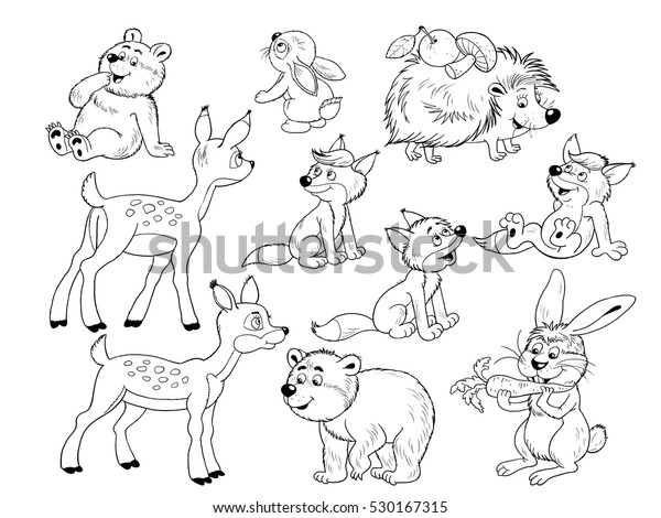 Free Printable Woodland Animals Coloring Pages | 470x600