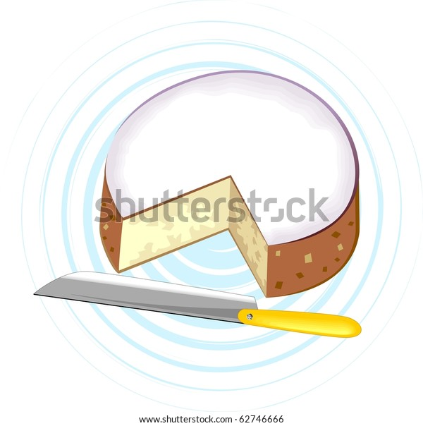 Fantastic Cutting Piece Birthday Cake Knife Yellow Stock Illustration 62746666 Personalised Birthday Cards Bromeletsinfo