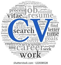 Curriculum Vitae Cv Concept Word Tag Ilustracion De Stock103847867