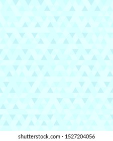 Cyan triangle pattern. Seamless background with dark and light blue triangles