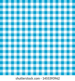 Cyan and white color boxes cloth