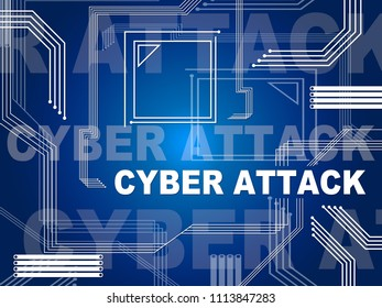 Cyber Attack Threat By North Koreans 3d Illustration. Shows Hack By North Korea And Virus Or Online Cybercrime Security Threat To Data Protection