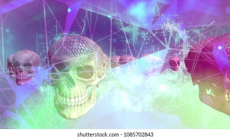 Cyber Crime, Cyber Attack Concept Background. Digital Technology Background, Cryptocurrency Concept.
