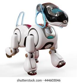 cyber dog 3d illustration