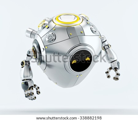 Cyber Egg Character Stylish Robotic Egg Stock Illustration Royalty