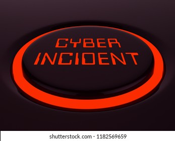 Cyber Incident Data Attack Alert 3d Rendering Shows Hacked Networks Or Computer Security Penetration