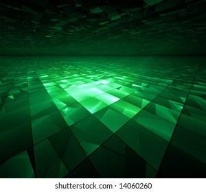 Cyber Kryptonite Glow - fractal illustration
