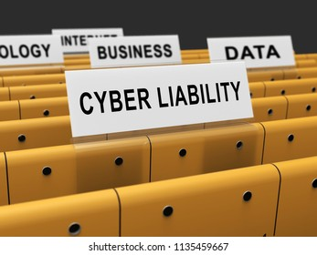 Cyber Liability Insurance Data Cover 3d Rendering Shows Internet Fraud Insurers Giving Risk Coverage