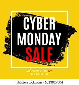Cyber Monday Sale Deals Design Template  Illustration