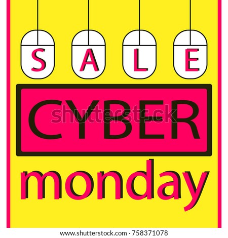 316f09b70f Cyber monday sale poster for advertisement. Cyber monday background with  mouse. Sale concept.