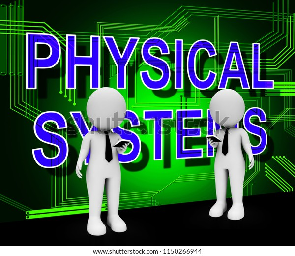 Cyber Physical Systems Bot Interaction 3d Stock Illustration