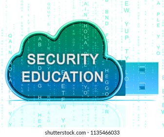 Cybersecurity Education Security Seminar Teaching 3d Rendering Shows Online Training Of Cyber Skills For System Protection