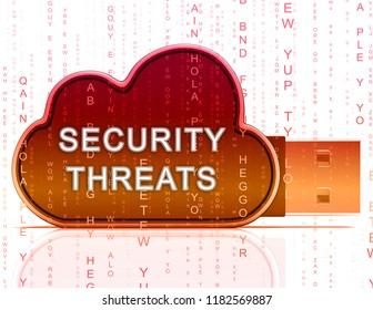 Cybersecurity Threats Cyber Crime Risk 3d Rendering Shows Criminal Data Breach Vulnerability And System Warning