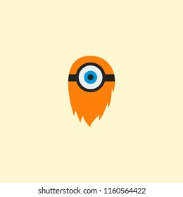 Cyclop icon flat element.  illustration of cyclop icon flat isolated on clean background for your web mobile app logo design.