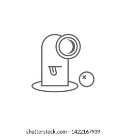 Cyclops, nasty outline icon. Element of nasty icon. Thin line icon for website design and development, app development. Premium icon