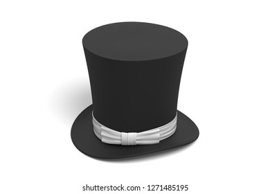 cylinder hats on white background