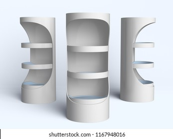 Cylinder Shape Display Stand. 3D rendering
