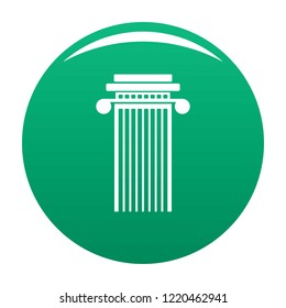 Cylindrical column icon. Simple illustration of cylindrical column icon for any design green