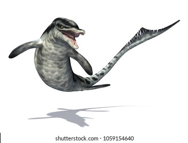 The Cymbospondylus was a prehistoric undersea creature that resembled the modern day dolphin - 3d render.