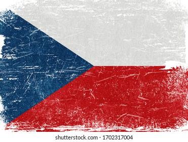 Czech Republic, Czech Republic Flag, Czech Republic Flag Background, Grunge Flag Background, Czech Republic Vintage Flag Background, Banner, Wallpaper