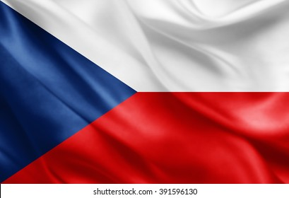 Czech Republic   flag of silk