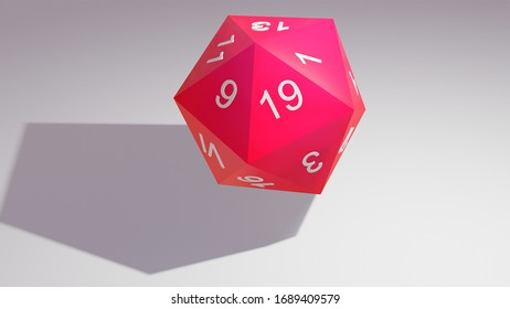 The D20 is commom used by traditional RPG and players where you use the dice (D4 D6 D8 D20 and others) to calculate the changes of your character win a battle or to decide a situation.