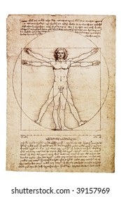 Da Vinci's Vitruvian Man from 1492